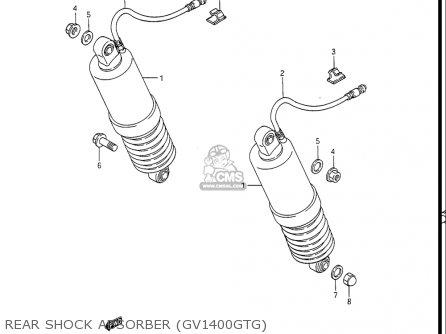 Suzuki Gv1400gc Cavalcade 1986 g Usa e03 Rear Shock Absorber gv1400gtg