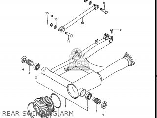 Suzuki Gv1400gc Cavalcade 1986 g Usa e03 Rear Swinging Arm