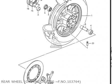 Suzuki Gv1400gc Cavalcade 1986 g Usa e03 Rear Wheel gv1400gdg gtg ~f no 103764