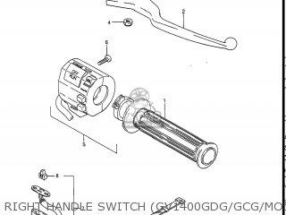 Suzuki Gv1400gc Cavalcade 1986 g Usa e03 Right Handle Switch gv1400gdg gcg model H j