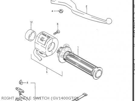 Suzuki Gv1400gc Cavalcade 1986 g Usa e03 Right Handle Switch gv1400gtg