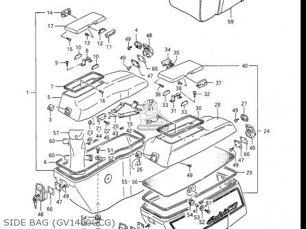 Suzuki Gv1400gc Cavalcade 1986 g Usa e03 Side Bag gv1400gcg