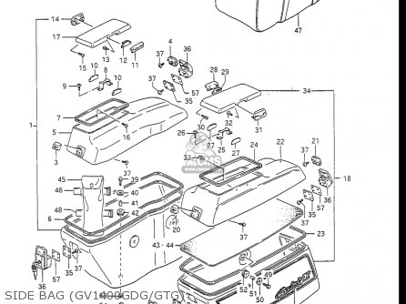 Suzuki Gv1400gc Cavalcade 1986 g Usa e03 Side Bag gv1400gdg gtg