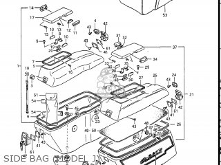 Suzuki Gv1400gc Cavalcade 1986 g Usa e03 Side Bag model J