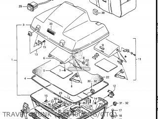Suzuki Gv1400gc Cavalcade 1986 g Usa e03 Travel Trunk gv1400gdg gtg