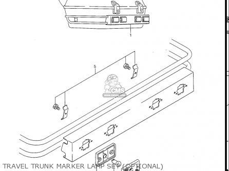 Suzuki Gv1400gc Cavalcade 1986 g Usa e03 Travel Trunk Marker Lamp Set optional