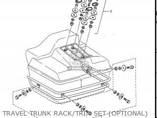 Suzuki Gv1400gc Cavalcade 1986 g Usa e03 Travel Trunk Rack trim Set optional