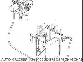 Suzuki GV1400GD CAVALCADE 1986 (G) USA (E03) parts lists and
