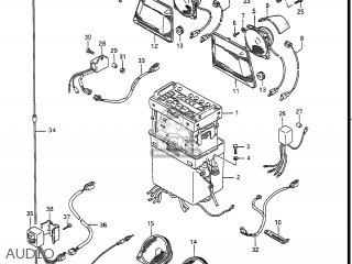 Suzuki GV1400GD CAVALCADE 1987 (H) USA (E03) parts lists and