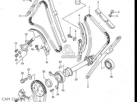 Suzuki Gv700 Glf  Glf2  1985 usa Cam Chain
