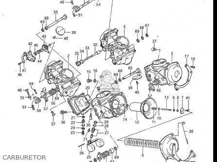 Suzuki Gv700 Glf  Glf2  1985 usa Carburetor