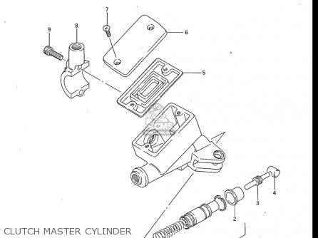 Suzuki Gv700 Glf  Glf2  1985 usa Clutch Master Cylinder