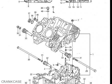 Suzuki Gv700 Glf  Glf2  1985 usa Crankcase