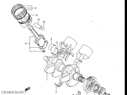 Suzuki Gv700 Glf  Glf2  1985 usa Crankshaft