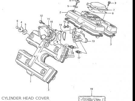 Suzuki Gv700 Glf  Glf2  1985 usa Cylinder Head Cover