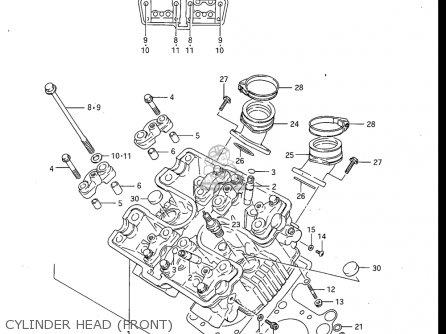 Suzuki Gv700 Glf  Glf2  1985 usa Cylinder Head front