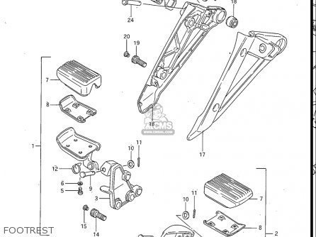 Suzuki Gv700 Glf  Glf2  1985 usa Footrest