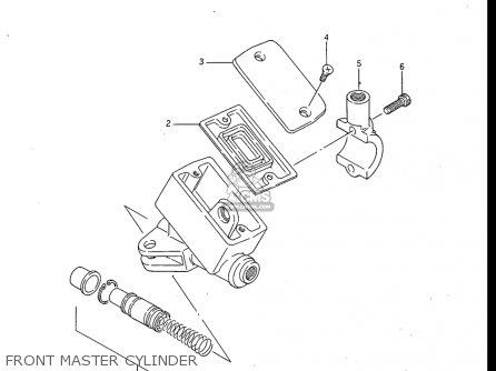 Suzuki Gv700 Glf  Glf2  1985 usa Front Master Cylinder