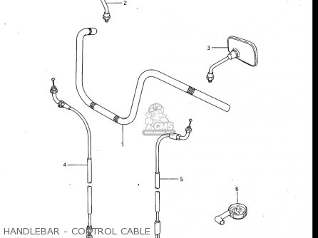 Suzuki Gv700 Glf  Glf2  1985 usa Handlebar - Control Cable