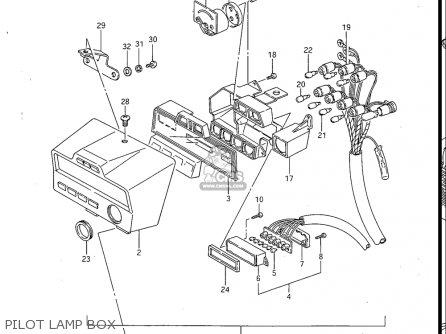 Suzuki Gv700 Glf  Glf2  1985 usa Pilot Lamp Box