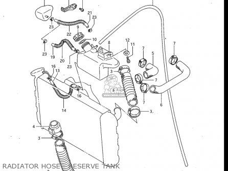 Suzuki Gv700 Glf  Glf2  1985 usa Radiator Hose - Reserve Tank