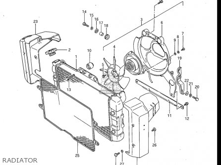 Suzuki Gv700 Glf  Glf2  1985 usa Radiator