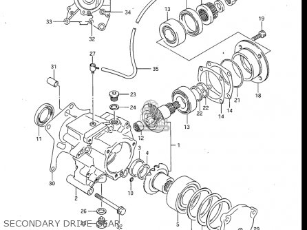 Suzuki Gv700 Glf  Glf2  1985 usa Secondary Drive Gear