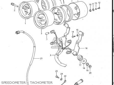 Suzuki Gv700 Glf  Glf2  1985 usa Speedometer - Tachometer