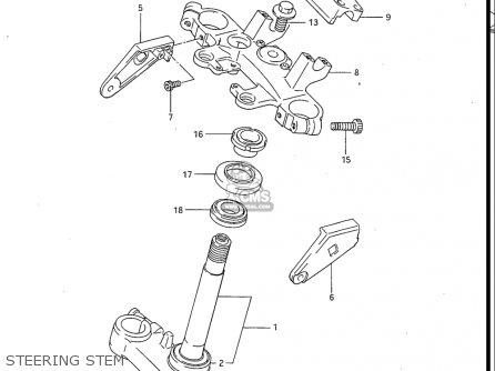 Suzuki Gv700 Glf  Glf2  1985 usa Steering Stem