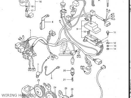Suzuki Gv700 Glf  Glf2  1985 usa Wiring Harness