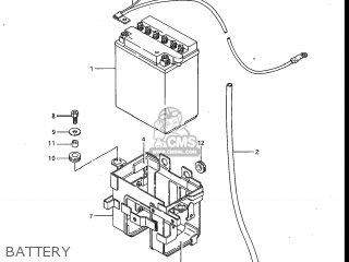 Suzuki Gv700glf Madura 1985 f Usa e03 Battery