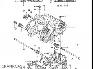 Suzuki Gv700glf Madura 1985 f Usa e03 Crankcase
