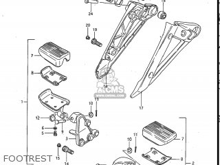 Suzuki Gv700glf Madura 1985 f Usa e03 Footrest