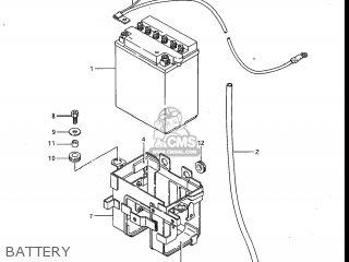 Suzuki Gv700glf Madura 1985 f Usa e03 Gv700 Glf Gv700-glf Battery
