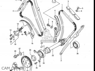 Suzuki Gv700glf Madura 1985 f Usa e03 Gv700 Glf Gv700-glf Cam Chain