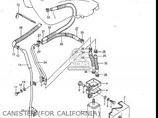 Suzuki Gv700glf Madura 1985 f Usa e03 Gv700 Glf Gv700-glf Canister for California