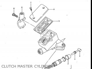 Suzuki Gv700glf Madura 1985 f Usa e03 Gv700 Glf Gv700-glf Clutch Master Cylinder