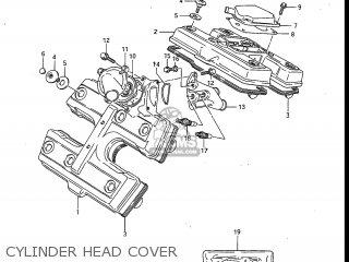 Suzuki Gv700glf Madura 1985 f Usa e03 Gv700 Glf Gv700-glf Cylinder Head Cover