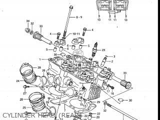Suzuki Gv700glf Madura 1985 f Usa e03 Gv700 Glf Gv700-glf Cylinder Head rear