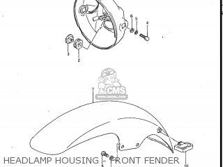 Suzuki Gv700glf Madura 1985 f Usa e03 Gv700 Glf Gv700-glf Headlamp Housing - Front Fender