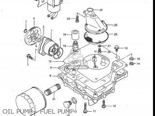 Suzuki Gv700glf Madura 1985 f Usa e03 Gv700 Glf Gv700-glf Oil Pump - Fuel Pump
