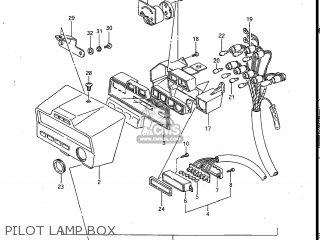 Suzuki Gv700glf Madura 1985 f Usa e03 Gv700 Glf Gv700-glf Pilot Lamp Box
