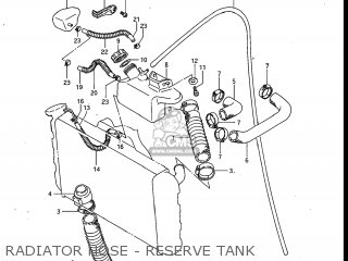 Suzuki Gv700glf Madura 1985 f Usa e03 Gv700 Glf Gv700-glf Radiator Hose - Reserve Tank