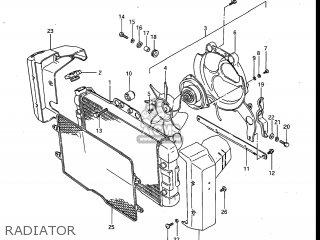 Suzuki Gv700glf Madura 1985 f Usa e03 Gv700 Glf Gv700-glf Radiator