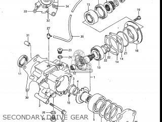 Suzuki Gv700glf Madura 1985 f Usa e03 Gv700 Glf Gv700-glf Secondary Drive Gear