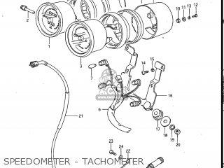 Suzuki Gv700glf Madura 1985 f Usa e03 Gv700 Glf Gv700-glf Speedometer - Tachometer