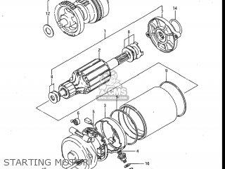 Suzuki Gv700glf Madura 1985 f Usa e03 Gv700 Glf Gv700-glf Starting Motor