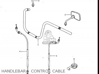 Suzuki Gv700glf Madura 1985 f Usa e03 Handlebar - Control Cable