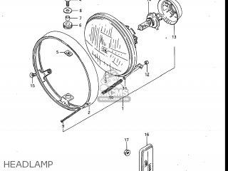 Suzuki Gv700glf Madura 1985 f Usa e03 Headlamp