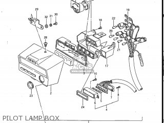 Suzuki Gv700glf Madura 1985 f Usa e03 Pilot Lamp Box